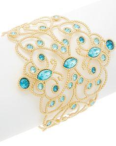 Swarovski® Crystal Azore Plated Crystal Filigree Bracelet is on Rue. Shop it now.