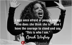 Oprah Winfrey quote on personal leadership