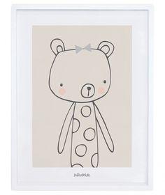 Lilipinso graphic, Cadre enfant oursonne «Caline»
