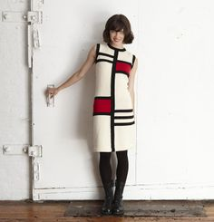 You too can own this gorgeous Mondrian dress. Knit and sewn today in our factory, plus an autographed copy of the OKM knitting book.  $250