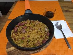 Migas de harina Polenta, Risotto, Grains, Rice, Recipes, Food, Chorizo Tacos, Crumble Recipe, Pasta Recipes
