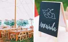 Wedding day-of signage, handlettering by Type Delight. Wedding Planning and Design by Fête Weddings.  Photo by Katie Stoops Photography