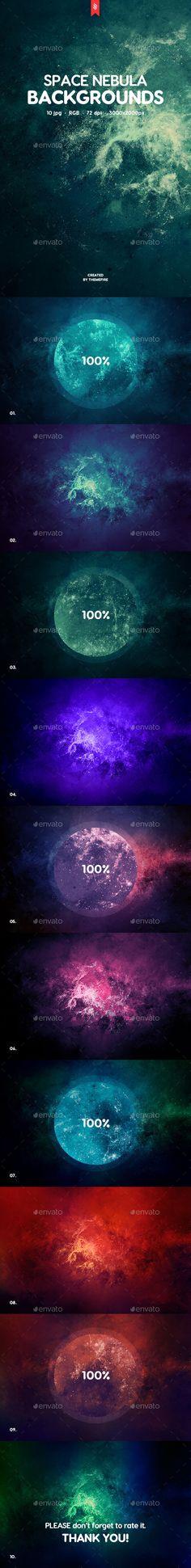 Space Nebula Backgrounds