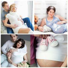 фотосессия беременной в студии с мужем