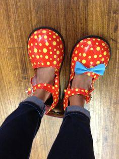 My clown shoes for Halloween! #halloween #clown