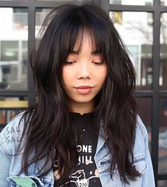 Welcome to the Dark Side: 40 Gorgeous Brunette Hairstyles Asian Medium Layered Hairstyle Medium Layered Hair, Long Layered Haircuts, Haircuts With Bangs, Haircut Bangs, Easy Hairstyles For Medium Hair, Medium Hair Styles, Short Hair Styles, Natural Hair Styles, My Hairstyle