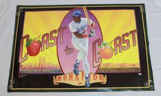 Nike Darryl Strawberry Poster Los Angeles Dodgers 44 Coast to Coast Baseball HR