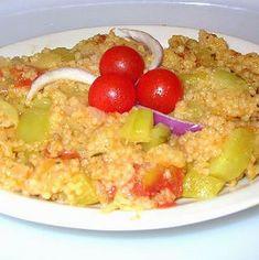 Cukkinis-paradicsomos köles Recept képpel -   Mindmegette.hu - Receptek Macaroni And Cheese, Oatmeal, Grains, Paleo, Rice, Breakfast, Ethnic Recipes, Minden, Food