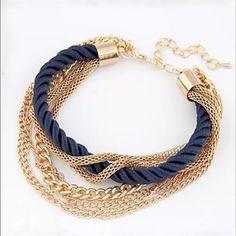 NEW!! Navy & Gold Bracelet NEW!! Navy and gold tone bracelet. Jewelry Bracelets