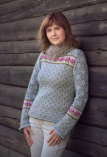 Villrosa genser   Garnpakker med strikkeoppskrifter fra