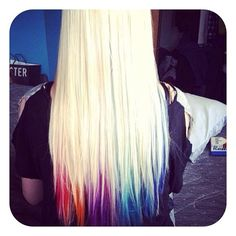 Colored Tips, I love how its under, kind of peek a boo but not really