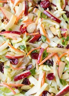 Apple, cranberry and almond Coleslaw