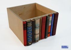 Modern Library Storage Bin  This would be so easy to make and so great to have as storage on the shelf!!!!!