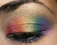 From some requests, this is a tutorial to do a rainbow eye. Some people find that this is a very difficult look to master, but I thought it was pretty easy