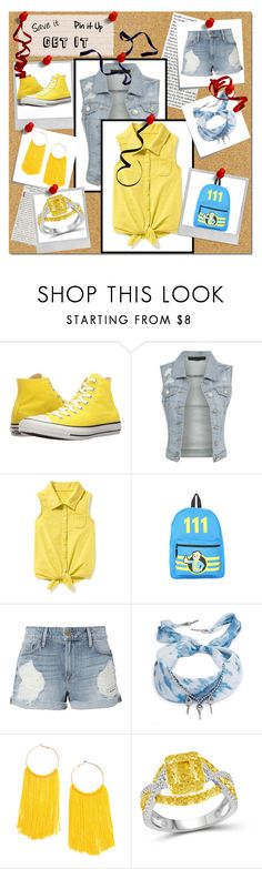 """""""It 1"""" by yoh-mewz ❤ liked on Polyvore featuring Converse, Old Navy, Frame, DANNIJO, Modern Bride, Polaroid, Post-It and Valentino"""