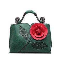 Realer brand spring new women tote bag with a flower bucket bag high quality PU leather handbag vintage shoulder messenger bags-in Top-Handle Bags from Luggage & Bags on Aliexpress.com | Alibaba Group