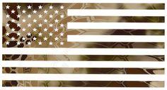 Kryptek Highlander American Flag Decal