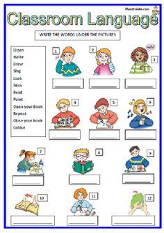 Risultati immagini per classroom language Learning English For Kids, Teaching English Grammar, English Lessons For Kids, English Worksheets For Kids, Kids English, English Activities, English Language Learners, English Vocabulary, Learn English