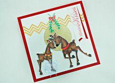 RL Design - Invitatii si felicitari Handmade : 2015 Christmas Card Series - Card No 18 - Tiddly Inks Handmade Card