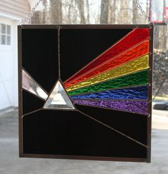 Pink Floyd Dark Side of the Moon Stained Glass by Imakeglass, $60.00