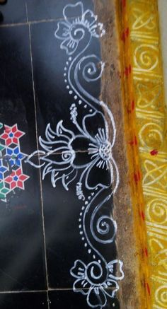 New flowers drawing border 65 ideas Indian Rangoli Designs, Rangoli Designs Latest, Rangoli Designs Flower, Rangoli Border Designs, Rangoli Designs Images, Rangoli Designs With Dots, Beautiful Rangoli Designs, Flower Rangoli, Rangoli Borders