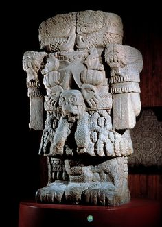 Mexica (Aztec) sculpture of earth deity Coatlicue - photo by Jorge Perez de Lara