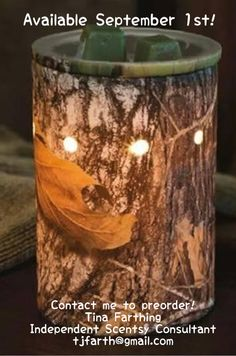 Ahhh, another reason to love fall.  I love the scents of fall!  Mossy oak camo warmer available sept 1 st! www.tinafarthing.scentsy.ca  #spaweekfall2013