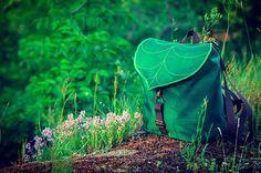 Feuilles vert foncé Mini sac à dos des femmes sac par LeaflingBags