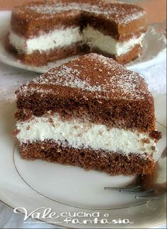 PROVATA Torta fredda con crema al cocco e nesquik  Ho messo un uovo in meno. A 160° ha plottato :(