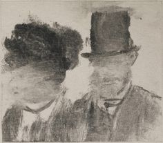 Edgar Degas (French, 1834–1917). Heads of a Man and a Woman (Homme et femme, en buste), c. 1877–80 - Cuando Degas se asilvestró - 20minutos.es