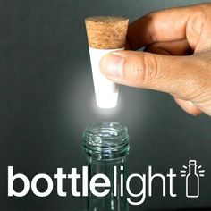 Rechargeable Bottle Light : Rechargeable Light that Turns Empty Bottles into Lamps