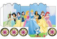 Princesas Disney: Preciosas Cajas con forma de Carruaje para Imprimir Gratis.