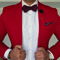 Red suit style