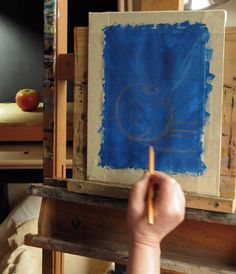 Preparing a Painting