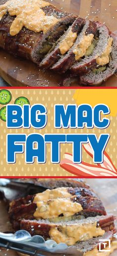 You can now make your own Big Mac in meatloaf form. Wrapped in a bacon weave then smoked, it takes on elements of all the best foods. Dressed with homemade special sauce guaranteed to be ten times better than the McMass-produced stuff, this fatty (smoked meatloaf) is the byproduct of the geniuses at BarbecueTricks.