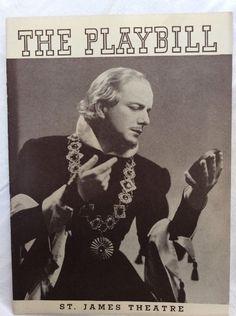 1937 #Playbill  King Richard II St James #Theater #NYC #1930s  #Advertisements #vintage #ebay #forsale #forsaleonebay #weselldeadpeoplesstuffhq