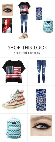 """""""Monsta X imagines/ EXO/GOT7"""" by princess-emmi on Polyvore featuring Chicnova Fashion, J Brand, Converse and JanSport"""