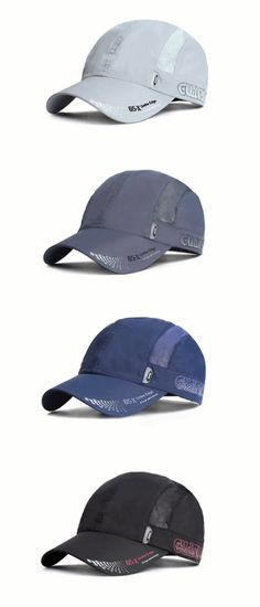 58d4c6ea99931 Mens Women Quick-dry Thin Breathable Snapback Flat Baseball Caps Adjustable  Outdoor Visors Hats is hot sale on Newchic.