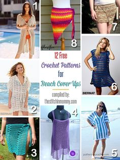 With swimsuit season upon us, what better way to dress up your swimwear than with a gorgeous crochet beach cover up! Get 12 free cover up patterns here.