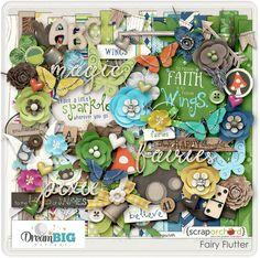 digital scrapbook kits - Fairy Flutter l Dream Big Designs