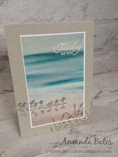 The Craft Spa - Stampin' Up! UK independent demonstrator - Order Stampin Up in UK: Wetlands Serene Scenery Masculine Birthday Cards, Birthday Cards For Men, Masculine Cards, Card Box Wedding, Diy Wedding, Wedding Favors, Nautical Cards, Beach Cards, Bird Cards