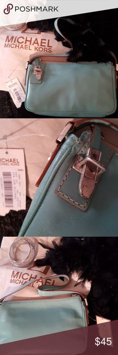 Michael Kors Aqua small purse Small purse for anytime..anywhere...latch has a few scratches...nwts...bundle up...#5 Michael Kors Bags Mini Bags