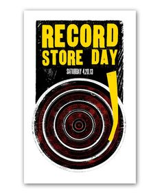 Record Store Day 2013 Limited Edition Lithograph - Vinyl Record Shop, Vinyl Records, Record Collection, Day, Art Work, Shots, Lovers, Music, Artwork