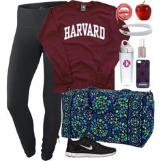 Vera bradley, tervis, lacoste, essie, jonathan adler and urbanears nike outfits Nike Outfits, Sporty Outfits, College Outfits, Winter Outfits, Summer Outfits, School Outfits, Teen Outfits, Simple Outfits, Huarache Run Ultra