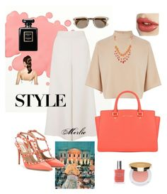 """""""Pretty in Coral"""" by mduncan0417 ❤ liked on Polyvore featuring GALA, Valentino, Topshop, Warehouse, QVC, MICHAEL Michael Kors, Isaac Mizrahi, American Apparel, Chanel and Hershesons"""