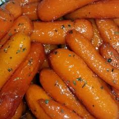 Honey Glazed Carrots. Just carrots, honey, butter, salt, and pepper. Yum!