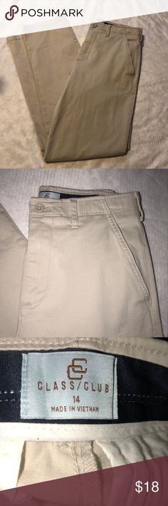 Boys class club dress slacks Khaki boys Class Club slacks. Worn once in excellent condition. Class Club Bottoms