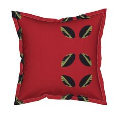 Leaves Get BoldRed Pillow by menny | Roostery Home Decor