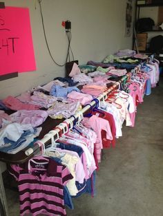 how to display clothes for a garage sale - Google Search