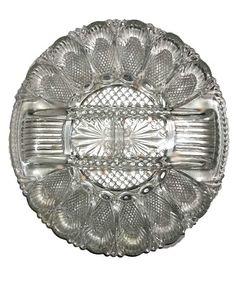 Vintage Pressed Deviled Egg Plate FREE SHIPPING